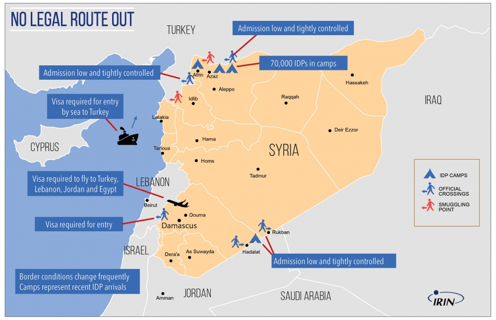 Syria refugees map