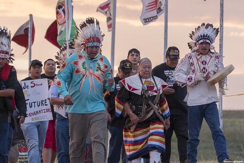 Native protestors