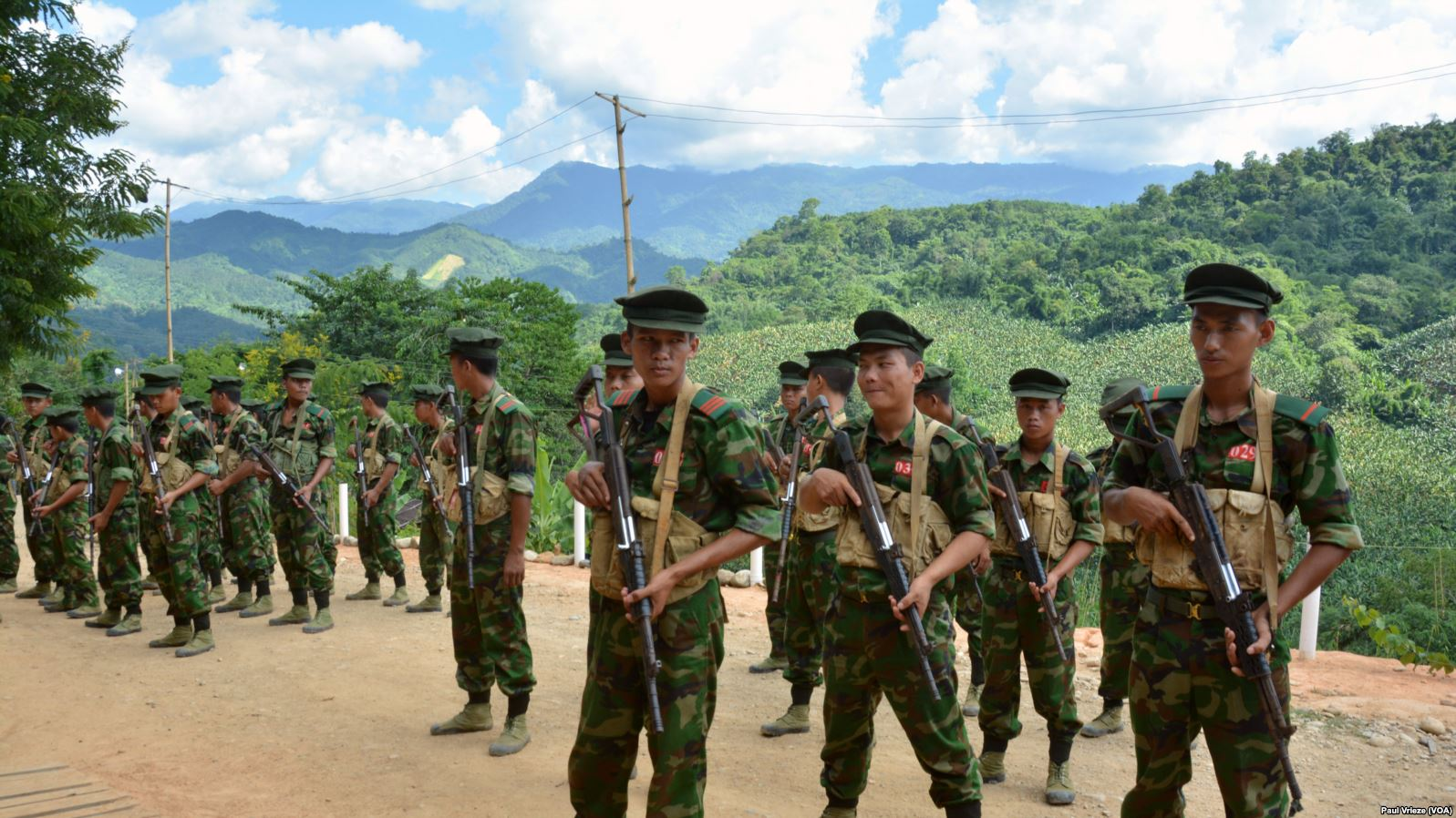 Kachin Independence Army cadets in Laiza (Paul Vrieze VOA)