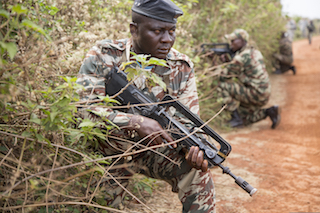 Cameroon soldier