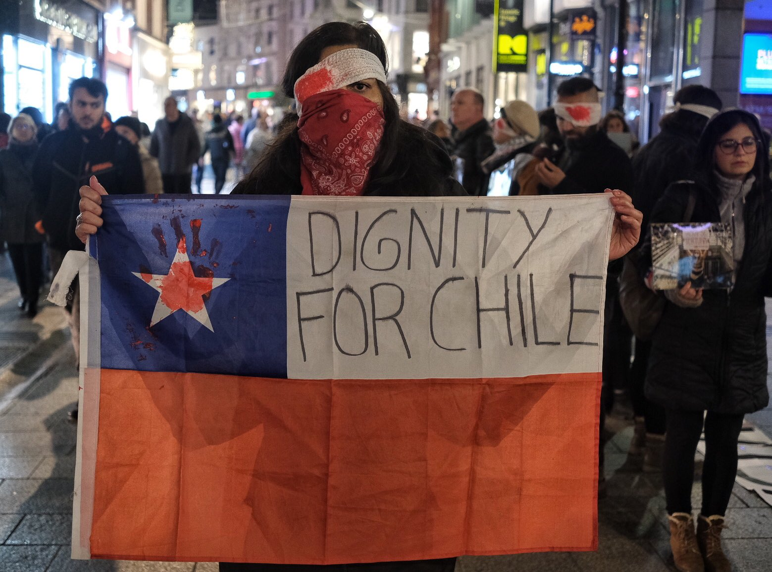 Chile protester