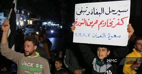 Idlib protest