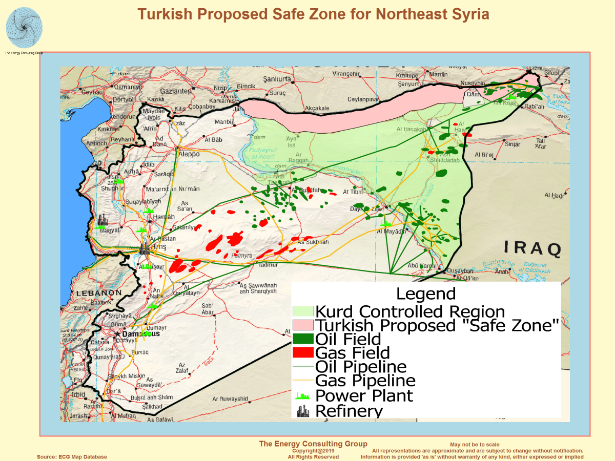 Syria oil map