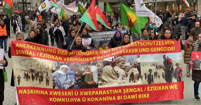 yazidi protest