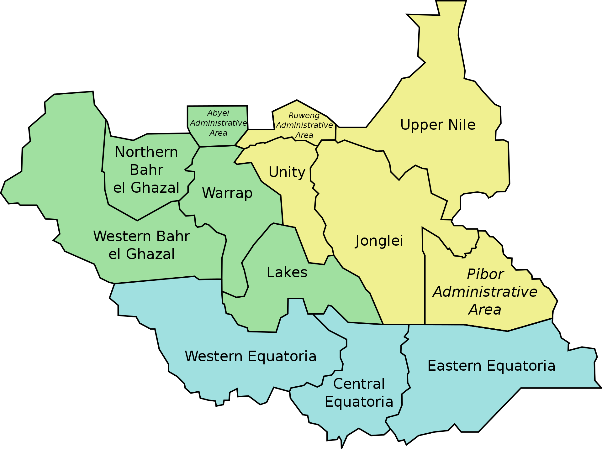 South Sudan divisions