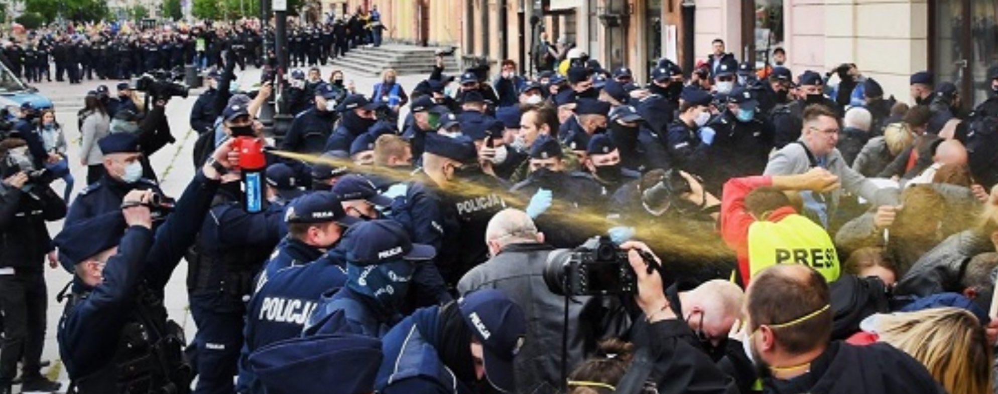 Warsaw riot